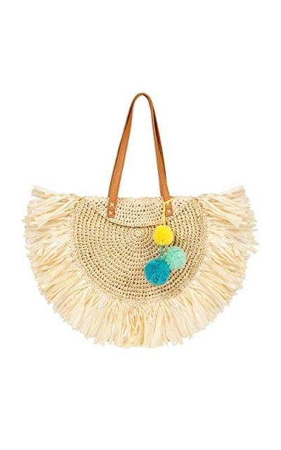 LUKATU Tassel  Straw Bag