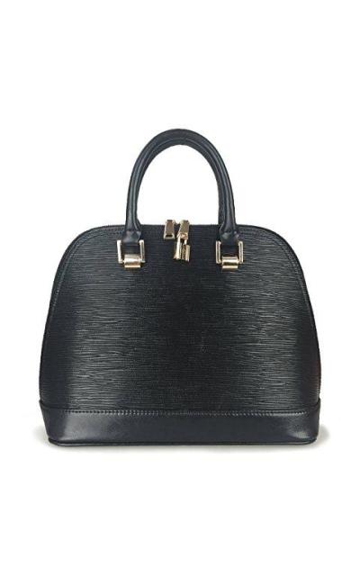 Hoxis Grain Embossed Faux Leather Handbag