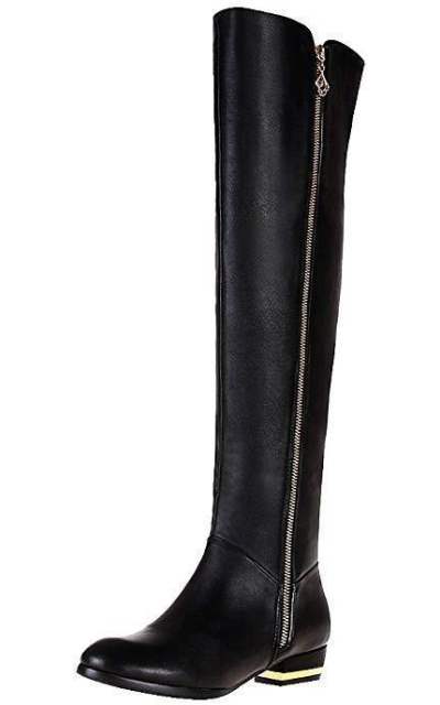 rismart Zip Fashion Above The Knee High Leather Riding Boots