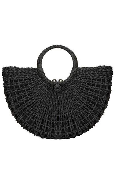 Straw Bag Handmade Weave Rattan Handbag