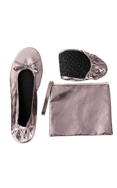 Foldable Ballet Flats -  Roll up Shoes with Pouch