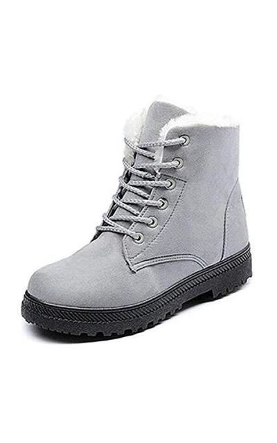 DADAWEN Suede Snow Boots