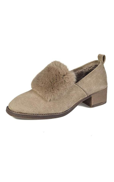 Meeshine Faux Suede Slip-On Loafers