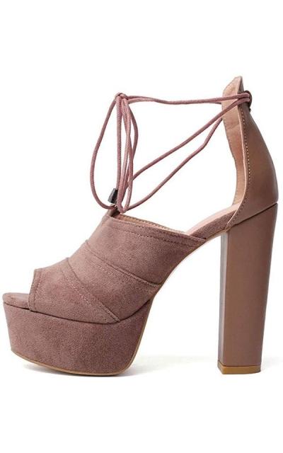 JF shoes Platform Block Heel Sandals
