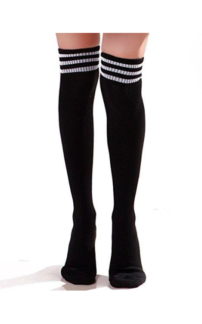 HDE Stripe Over Knee Socks