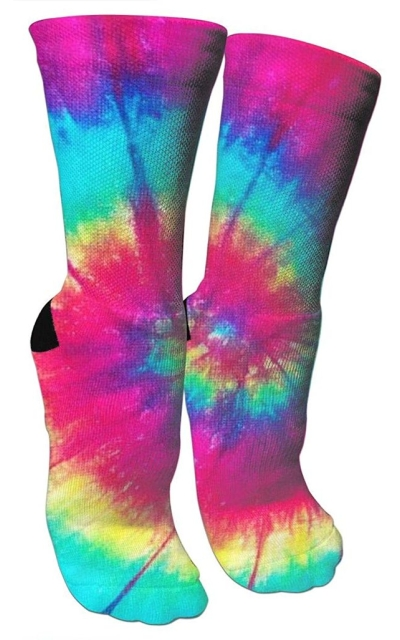 ULQUIEOR Colorful Tie-Dye Socks