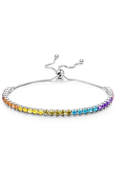 Kate Lynn Rainbow Tennis Bangle Bracelet