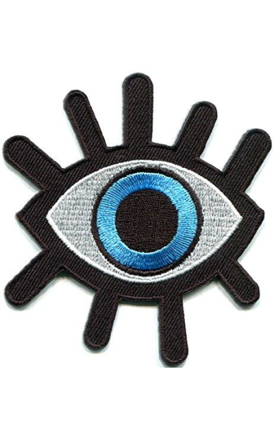 Eye eyeball iron-on patch