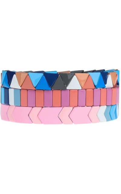 PLTGOOD Tile Bracelets Set