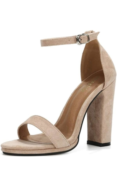 Ankle Strap Chunky Block High Heel Sandals