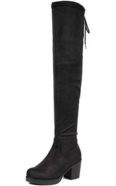 DREAM PAIRS HI_Chunk Heel Over The Knee Boots