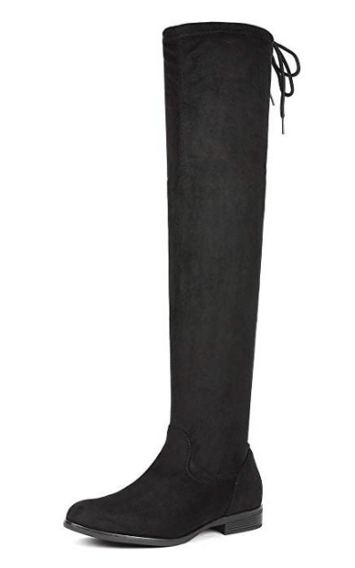 DREAM PAIRS Thigh High Over The Knee Flat Boots