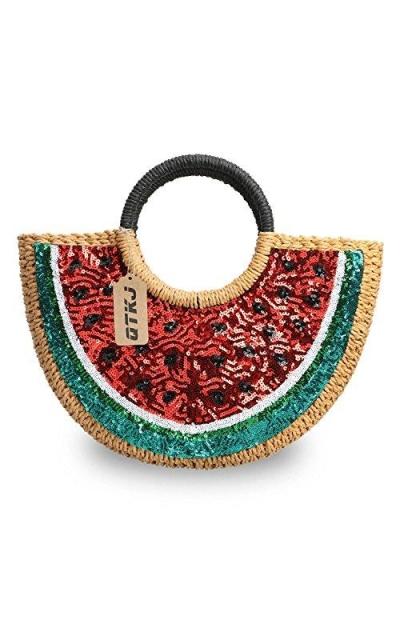 Watermelon Beach Straw Bag