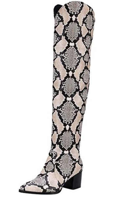 DENER Snake Over the Knee Boots