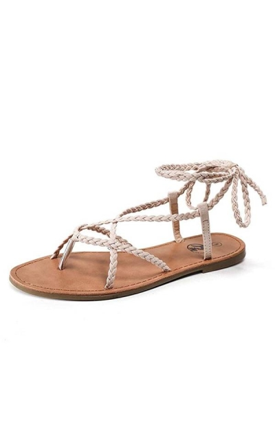 Trary Braid Lace up Sandal