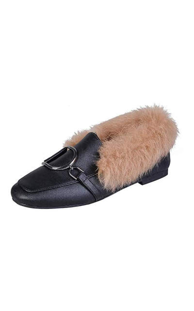Meeshine  Fur Slip On Loafers