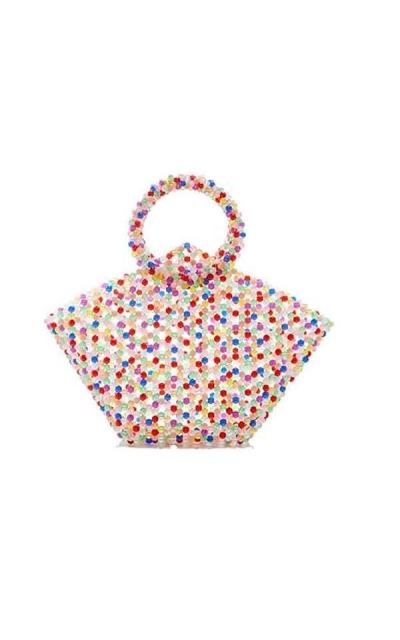 Pearls Bag Beaded Acrylic Basket Tote