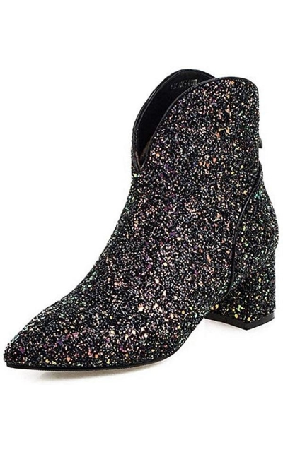GIY Glitter Ankle Boots
