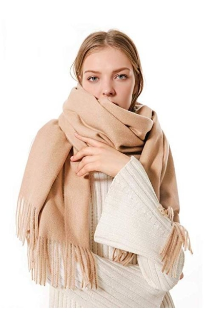 FRIDIROU Soft Cashmere Wool Pashmina Stole Scarf