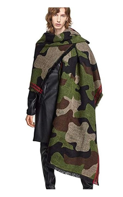Echolife Cashmere Wool Camouflage Scarf