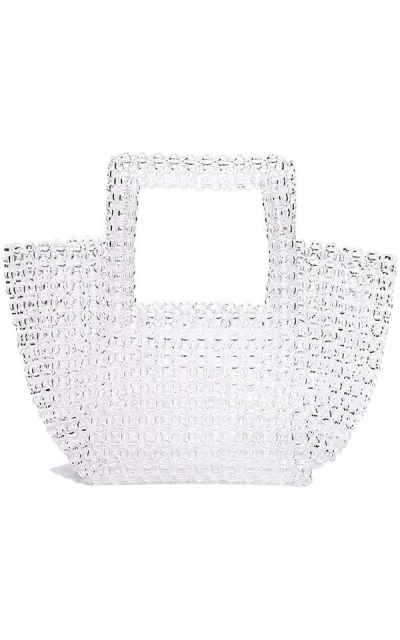 YIFEI Beaded Clear Acrylic Crystal Tote