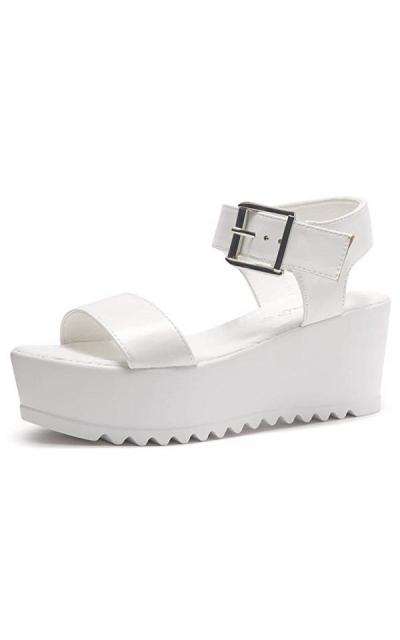 Herstyle Carita Open Toe Ankle Strap Platform Wedge Sandals
