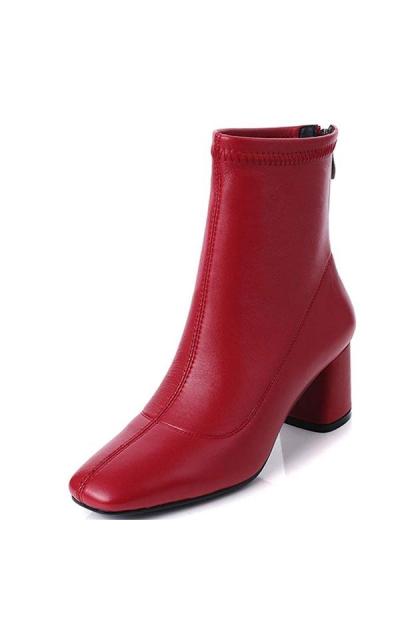 Nine Seven Square Toe Chunky Boots