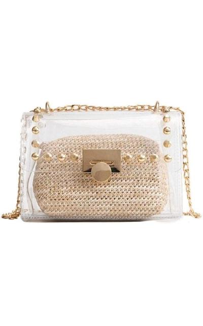 2 in 1 Transparent Crossbody Bag