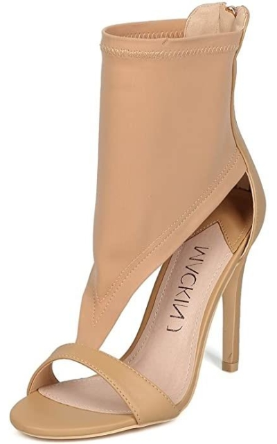 Alrisco Cut Out Stiletto Sandal