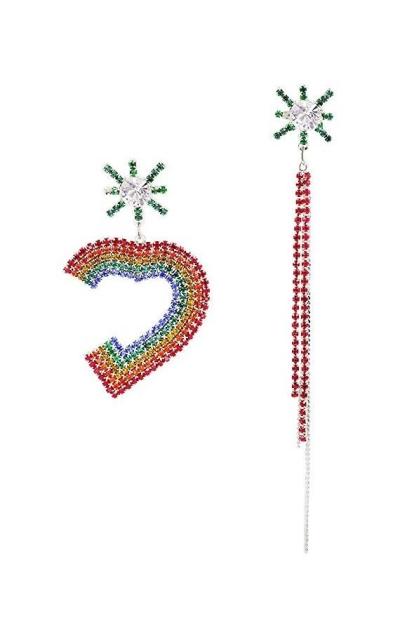 Rainbow Rhinestone Earrings