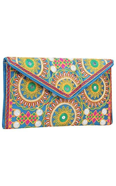 Ethnic Embroidered Clutch Purse
