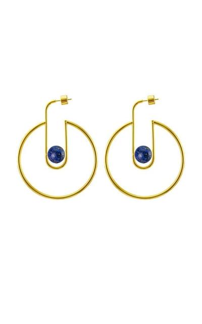 925 Gold Stone Earrings