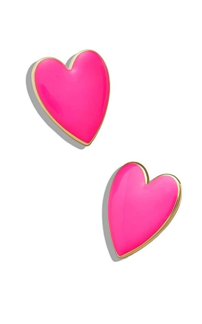 Statement Heart Stud Earrings