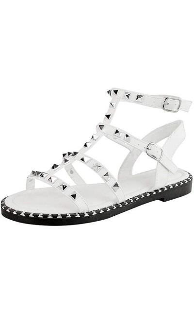 Fashion Thirsty Flat Studded Sandals