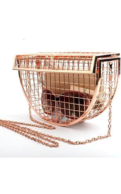 Semicircular Clutch Cage Bag