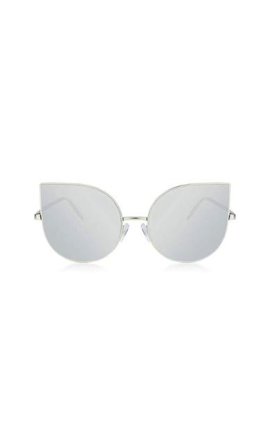 SOJOS Cat Eye Mirrored Flat Sunglasses