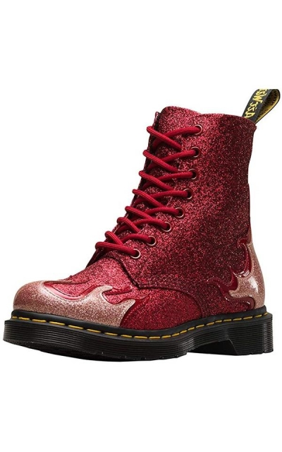 Dr. Martens 1460 Pascal Flame Glitter/Red Boots