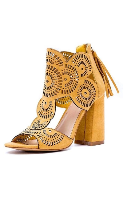 Gc Shoes  Halle Perforated Dress Sandals