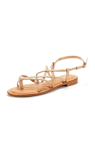 DREAM PAIRS Braided Flat Sandals