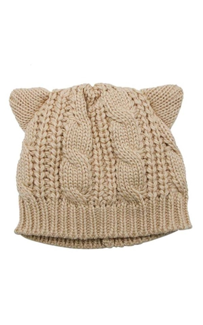 WSSROGY Cat Ears Knit Beanie