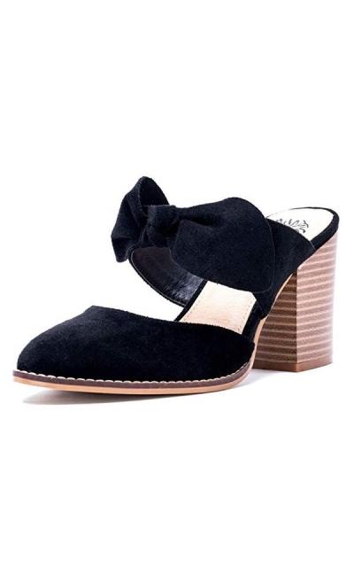 Gc Shoes Block Heeled Suede Pumps