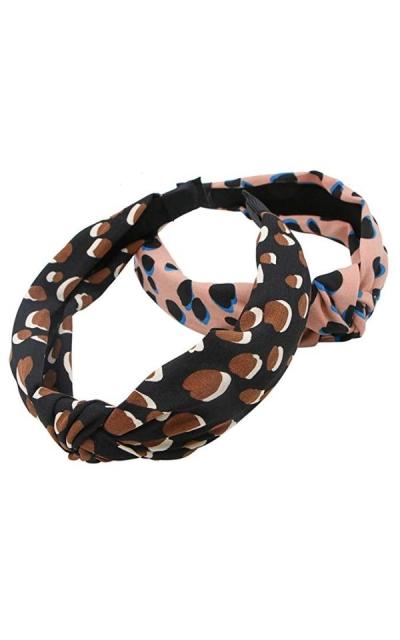 JETEHO 2 Pcs Dots Headband