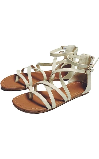 Gladiator Strappy Flat Open Toe Sandals