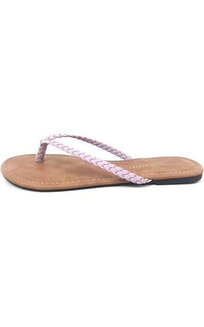 Charles Albert Easy Braided Thong Flip Flop Sandal