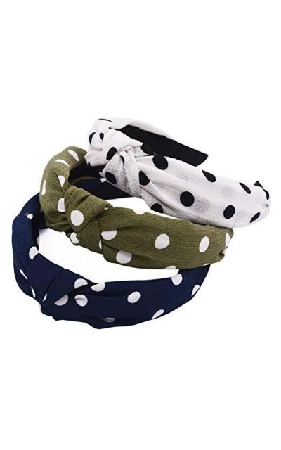 STHUAHE Pack of 3 Dot Headbands