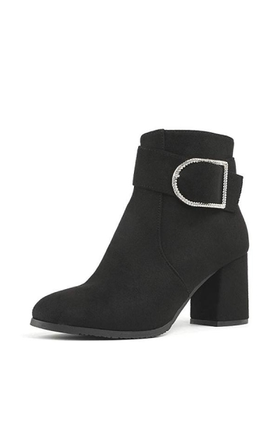DREAM PAIRS Keeny Chunky Heel Ankle Booties