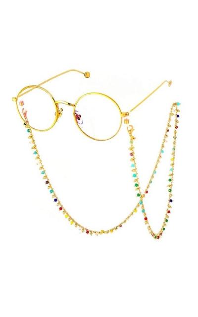 VINCHIC Colorful Beaded Sunglass Chain