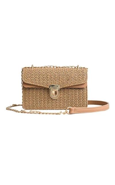 Editha Straw Weaving Cross-body Bag