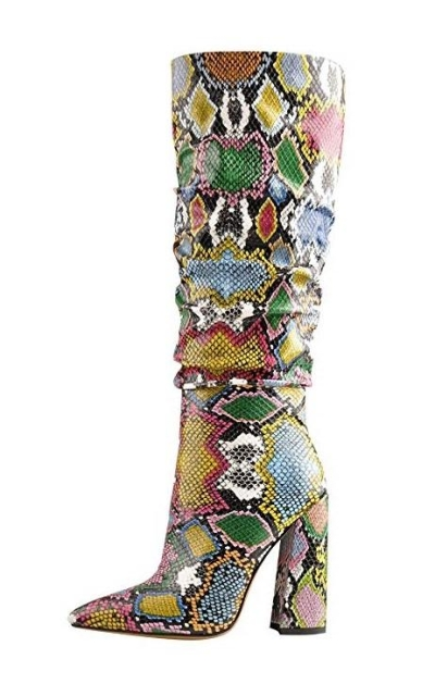 Onlymaker Pointed Toe Knee High Boots