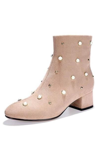 IDIFU Bonnie-Pearl Studded Booties
